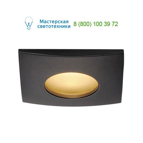 Marbel OUT 65 LED DL SQUARE Set Downlight, mattschwarz, 9W, 38°, 3000K, inkl. Treiber