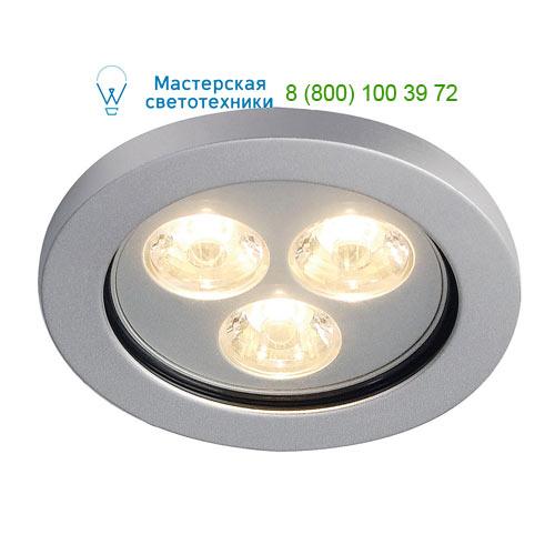 Marbel 111982 SLV EYEDOWN LED 3x1W светильник встраиваемый IP44 с 3 PowerLED по 1Вт, 3000К, 190lm,15°, 350m