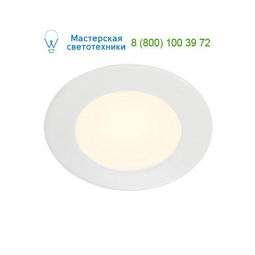 Marbel 112161 SLV DL 126 LED светильник встраиваемый с 6 SMD LED, 2.8Вт, 2700K, 160lm, 90°, 12B=, белый