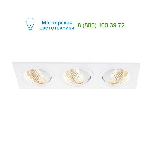 Marbel 114211 SLV NEW TRIA 3 DL SET светильник с 3 COB LED по 6Вт (30Вт), 3000К, 2500lm, 38°, с блоком пита