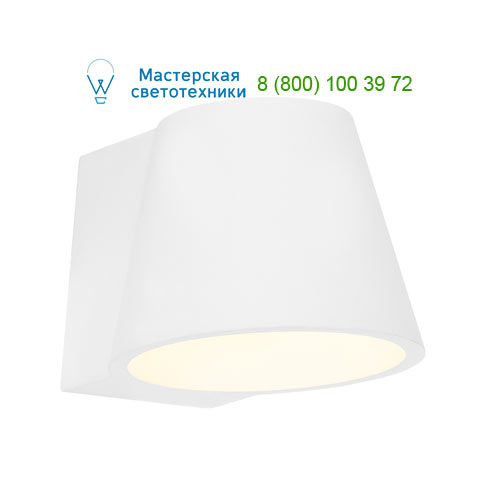 Marbel 148061 SLV PLASTRA CONE WL светильник настенный для лампы GX53 11Вт макс., белый гипс