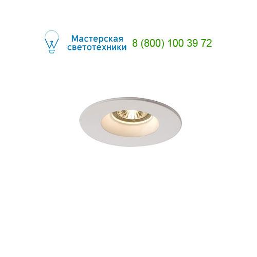 Marbel 148070 SLV PLASTRA DL GU10 ROUND светильник встраиваемый для лампы GU10 35Вт макс., белый гипс