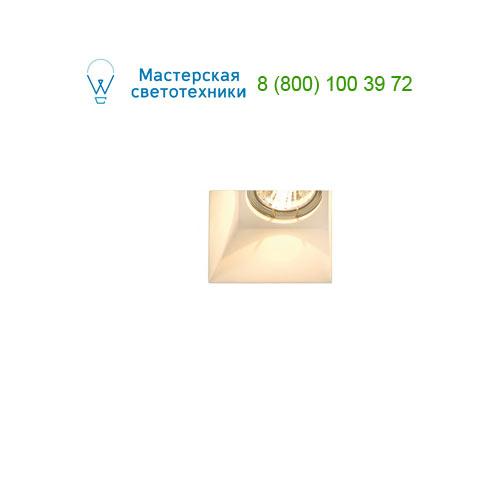 Marbel 148071 SLV PLASTRA DL GU10 SQUARE светильник встраиваемый для лампы GU10 35Вт макс., белый гипс