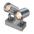 233301 SLV SST 304 DOUBLE светильник накладной IP44 для 2x ламп GU10 по 35Вт макс., сталь
