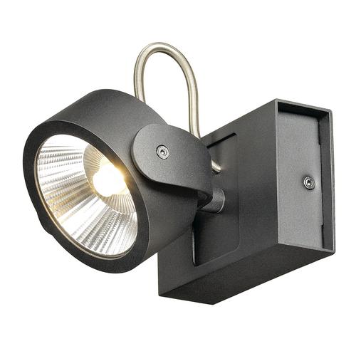 Marbel 1000127 SLV KALU 1 LED светильник накладной 17Вт с LED 3000К, 1000лм, 60°, черный
