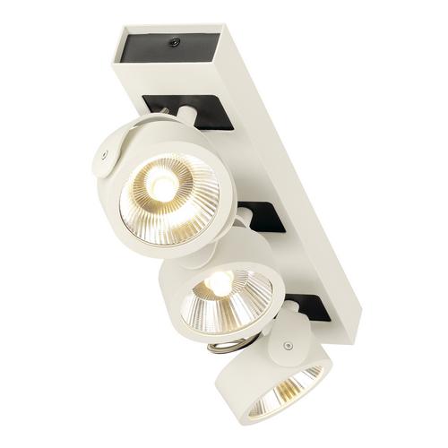 Marbel 1000132 SLV KALU 3 LED светильник накладной 47Вт с LED 3000К, 3000лм, 3х 60°, белый/ черный