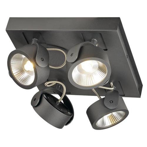 Marbel 1000135 SLV KALU 4 SQUARE LED светильник накладной 60Вт с LED 3000К, 4000лм, 4х 60°, черный