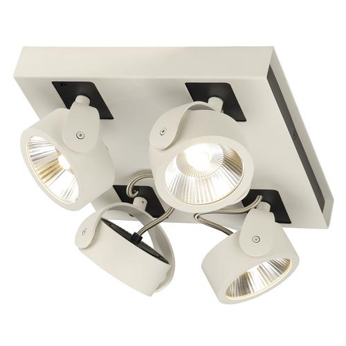 Marbel 1000136 SLV KALU 4 SQUARE LED светильник накладной 60Вт с LED 3000К, 4000лм, 4х 60°, белый/ черный