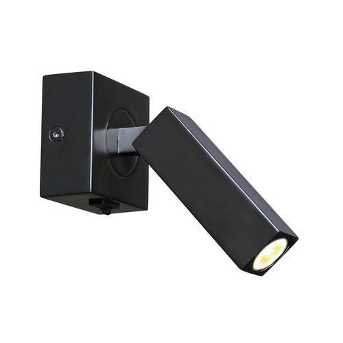 Marbel 1000324 SLV STIX светильник накладной 4.5Вт с выключателем и LED 3000К, 185лм, 30°, черный (ex 14627