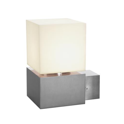 Marbel 1000336 SLV SQUARE WL светильник настенный IP44 для лампы E27 20Вт макс., сталь/ белый (ex 230706)