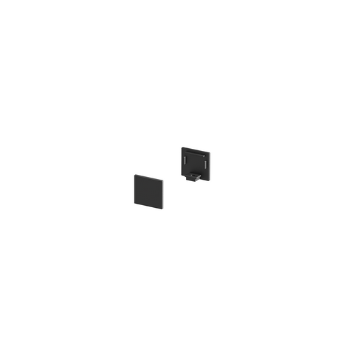Marbel 1000480 SLV GRAZIA 10, заглушка плоская для профиля стандарт, 2шт., черный