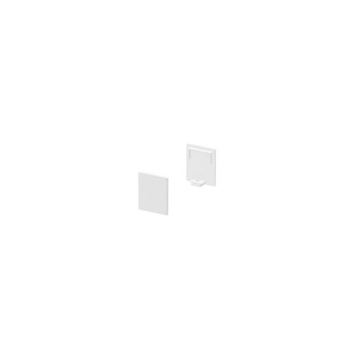 Marbel 1000482 SLV GRAZIA 10, заглушка высокая для плоского профиля, 2шт., белый