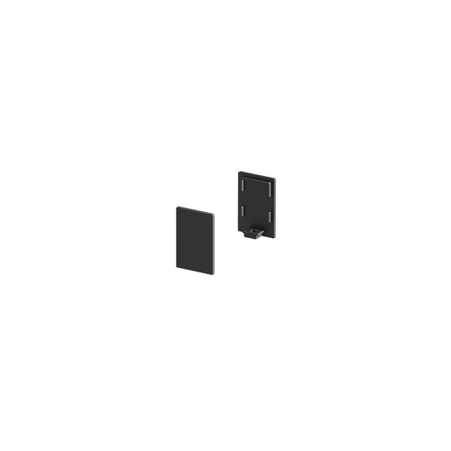 Marbel 1000486 SLV GRAZIA 10, заглушка высокая для профиля стандарт, 2шт., черный