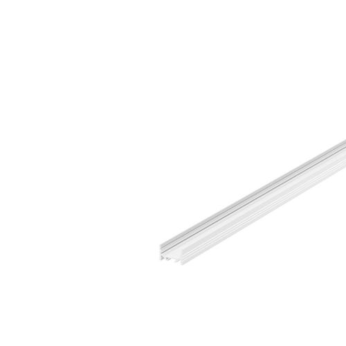 Marbel 1000500 SLV GRAZIA 20, профиль накладной плоский с желобками, 1 м, без экрана, белый