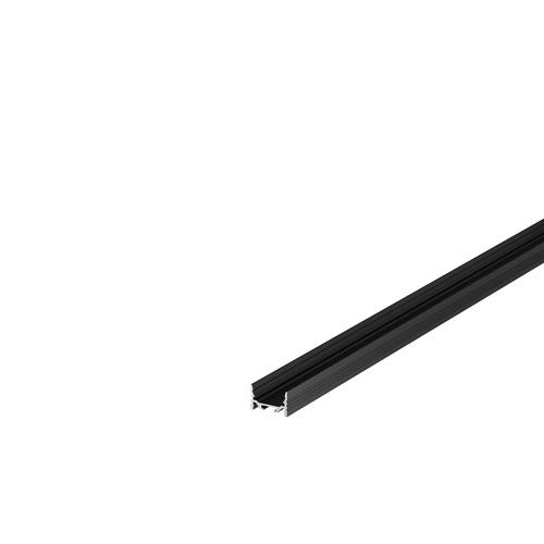 Marbel 1000501 SLV GRAZIA 20, профиль накладной плоский с желобками, 1 м, без экрана, черный