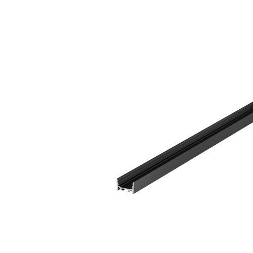 Marbel 1000528 SLV GRAZIA 20, профиль накладной плоский гладкий, 1 м, без экрана, черный