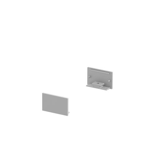 Marbel 1000559 SLV GRAZIA 20, заглушка плоская для плоского профиля, 2шт., алюминий