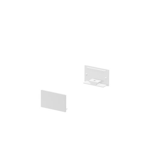 Marbel 1000560 SLV GRAZIA 20, заглушка плоская для плоского профиля, 2шт., белый