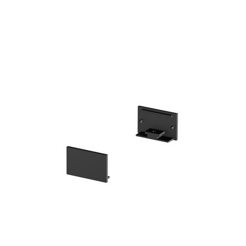Marbel 1000561 SLV GRAZIA 20, заглушка плоская для плоского профиля, 2шт., черный