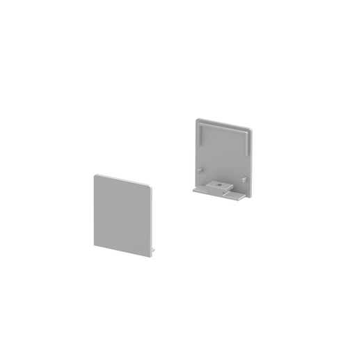 Marbel 1000562 SLV GRAZIA 20, заглушка высокая для плоского профиля, 2шт., алюминий