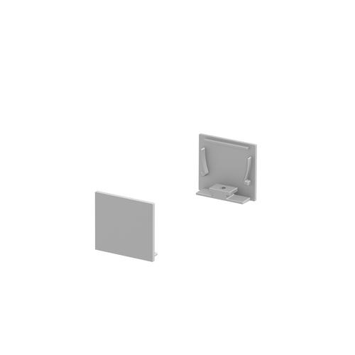 Marbel 1000565 SLV GRAZIA 20, заглушка плоская для профиля стандарт, 2шт., алюминий