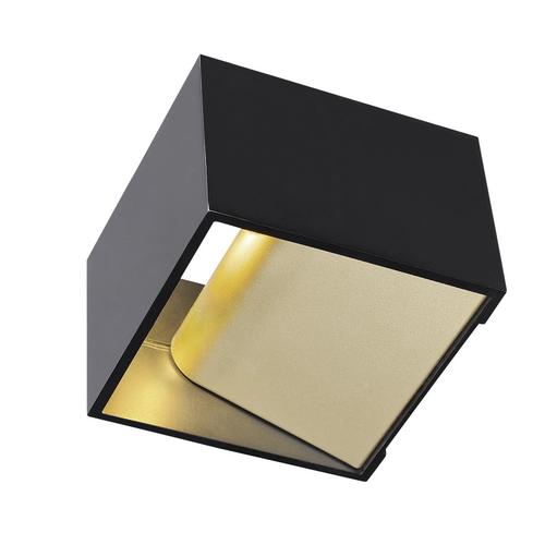 Marbel 1000638 SLV LOGS IN Dim to Warm светильник настенный 12Вт с LED 2000-3000K, 290лм, черный/ латунь