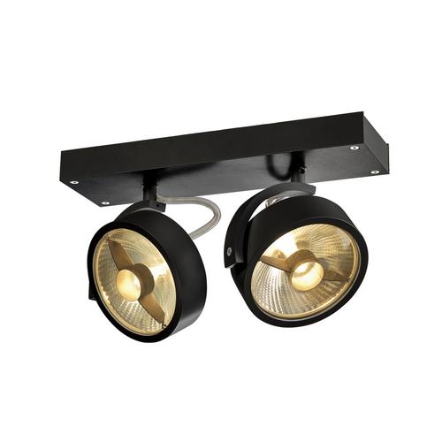 Marbel 1000703 SLV KALU 2 ES111 светильник накладной для 2-х ламп ES111 по 75Вт макс., черный