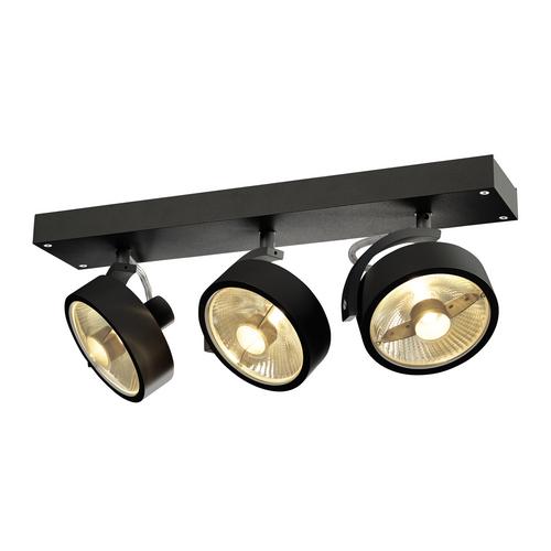 Marbel 1000704 SLV KALU 3 ES111 светильник накладной для 3-х ламп ES111 по 75Вт макс., черный