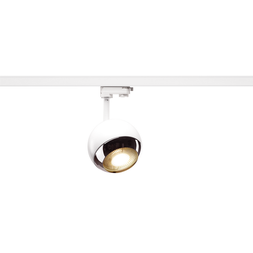 Marbel 1000708 SLV 3Ph, LIGHT EYE 150 SPOT светильник для лампы ES111 75Вт макс., белый/ хром