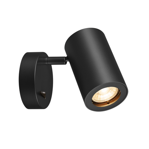 Marbel 1000729 SLV ENOLA_B SINGLE SPOT светильник накладной для лампы GU10 50Вт макс., с выключателем, черн