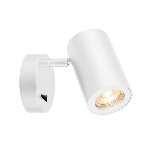 Marbel 1000730 SLV ENOLA_B SINGLE SPOT светильник накладной для лампы GU10 50Вт макс., с выключателем, белы