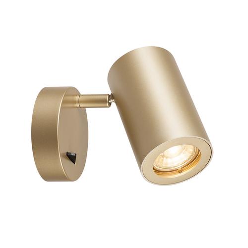 Marbel 1000731 SLV ENOLA_B SINGLE SPOT светильник накладной для лампы GU10 50Вт макс., с выключателем, лату