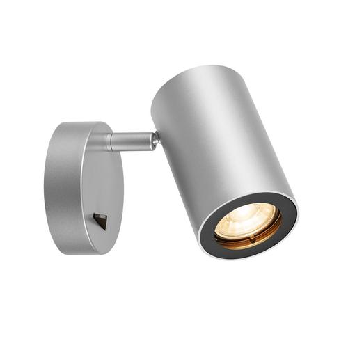 Marbel 1000732 SLV ENOLA_B SINGLE SPOT светильник накладной для лампы GU10 50Вт макс., с выключателем, сере