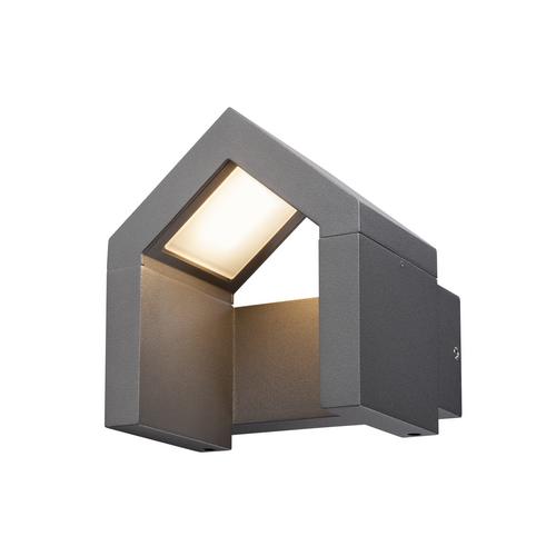 Marbel 1000797 SLV RASCALI WL светильник настенный IP54 8Вт с LED 3000К, 330лм, антрацит