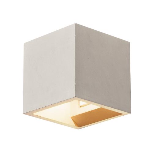 Marbel 1000910 SLV SOLID CUBE светильник настенный для лампы QT14 G9 25Вт макс., серый бетон