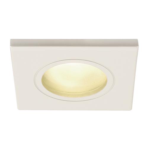 Marbel 1001169 SLV DOLIX OUT SQUARE GU10 светильник встраиваемый IP65 для лампы GU10 50Вт макс., белый (ex