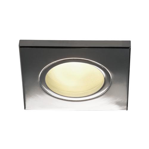 Marbel 1001170 SLV DOLIX OUT SQUARE GU10 светильник встраиваемый IP65 для лампы GU10 50Вт макс., хром (ex 1