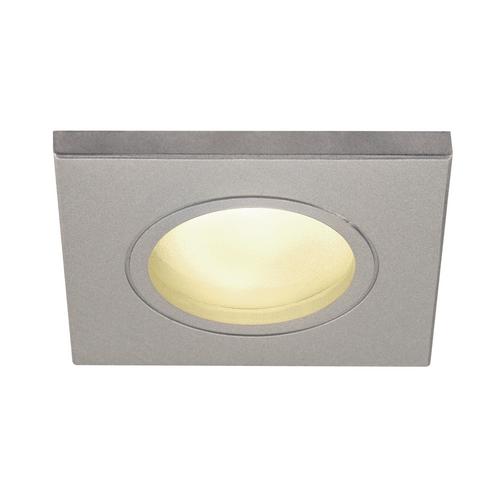 Marbel 1001171 SLV DOLIX OUT SQUARE GU10 светильник встраиваемый IP65 для лампы GU10 50Вт макс., серебр. (e