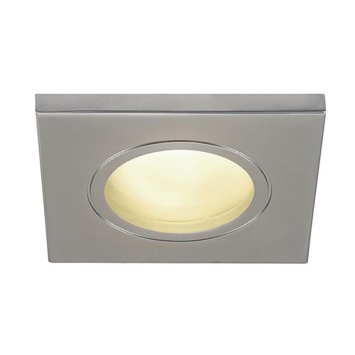 Marbel 1001172 SLV DOLIX OUT SQUARE GU10 светильник встраиваемый IP65 для лампы GU10 50Вт макс., матовый хр