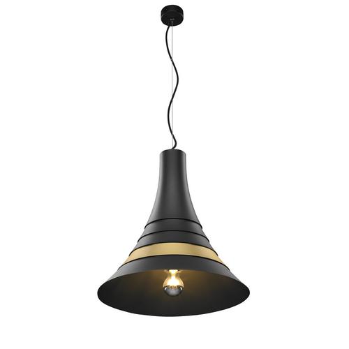 Marbel 1001265 SLV BATO 45 E27 PD светильник подвесной для лампы E27 60Вт макс., черный/ латунь