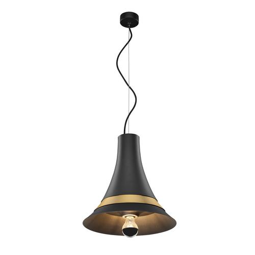 Marbel 1001266 SLV BATO 35 E27 PD светильник подвесной для лампы E27 60Вт макс., черный/ латунь