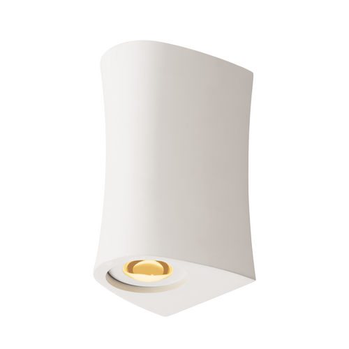 Marbel 1001271 SLV PLASTRA UP/DOWN CURVE WL светильник настенный 6.6Вт с LED 3000K, 2х 125лм, белый гипс (e