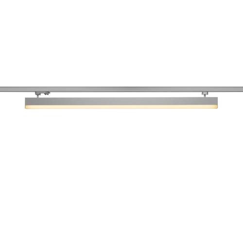 Marbel 1001292 SLV 3Ph, SIGHT светильник 37.3Вт с LED 3000К, 3100лм, 120°, UGR<28, серебристый (ex 153614)