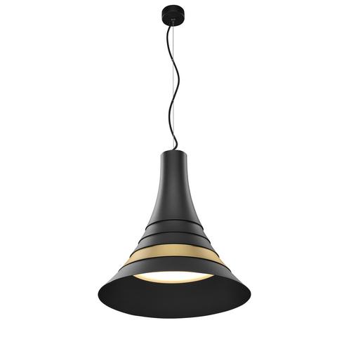 Marbel 1001350 SLV BATO 45 LED PD светильник подвесной 30Вт с LED 2700К, 1450лм, 100°, черный/ латунь