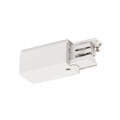 Marbel 1001379 SLV 3Ph   S-TRACK, разъём питания торцевой, GND слева, 16А макс., белый RAL9016 (ex 175051)
