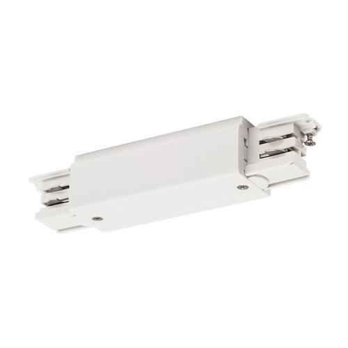 Marbel 1001383 SLV 3Ph | S-TRACK, коннектор прямой внешний с разъёмами питания, 16А макс., белый RAL9016 (e