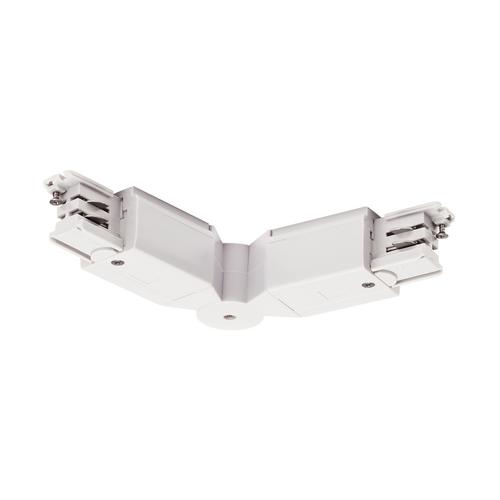 Marbel 1001384 SLV 3Ph | S-TRACK, коннектор гибкий с разъёмами питания, 16А макс., белый RAL9016 (ex 175101