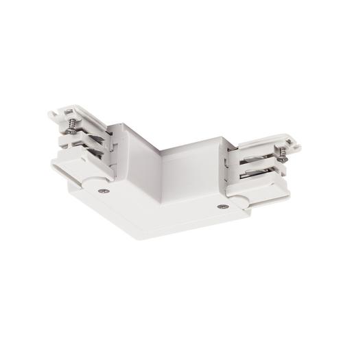 Marbel 1001385 SLV 3Ph   S-TRACK, L-коннектор с разъёмом питания, 16А макс., GND по внутреннему углу, белый