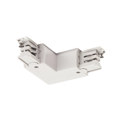 Marbel 1001386 SLV 3Ph | S-TRACK, L-коннектор с разъёмом питания, 16А макс., GND по внешнему углу, белый (e