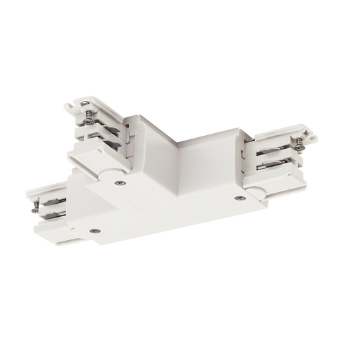 Marbel 1001387 SLV 3Ph | S-TRACK, T-коннектор с разъёмом питания, GND слева, белый RAL9016 (ex 175131)